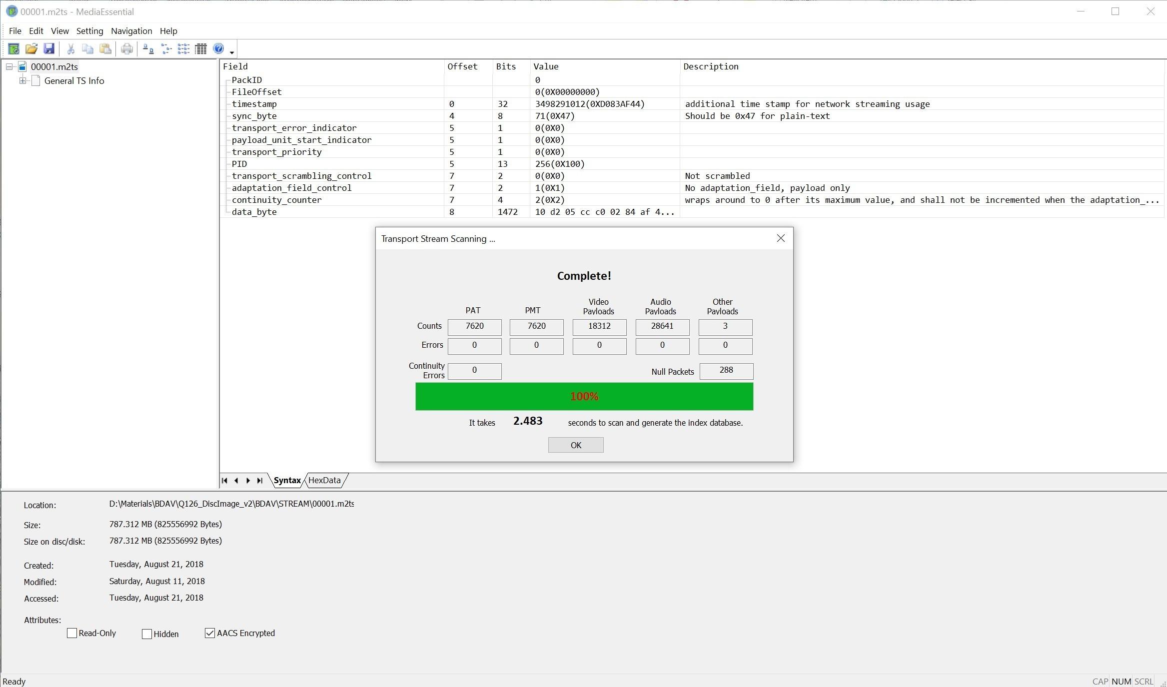 TS文件查看和分析工具